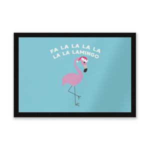 Fa La La La La La La Lamingo Entrance Mat