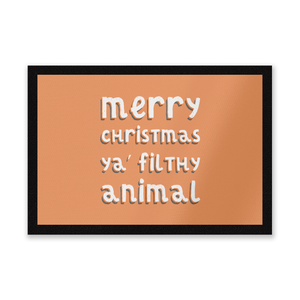 Merry Christmas Ya' Filthy Animal Entrance Mat