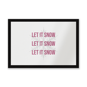 Let It Snow Entrance Mat