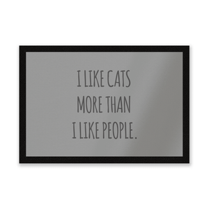 I Like Cats More Than People Entrance Mat