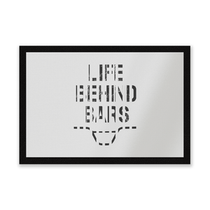 Life Behind Bars Entrance Mat