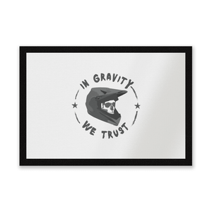 In Gravity We Trust BMX Entrance Mat