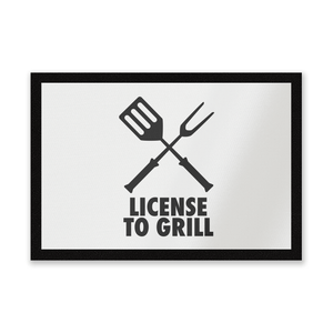 License To Grill Entrance Mat