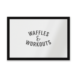 Waffles And Workouts Entrance Mat
