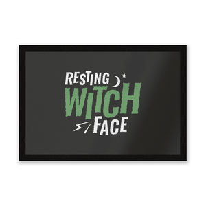 Resting Witch Face Entrance Mat