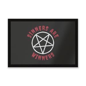 Sinners Are Winners Entrance Mat