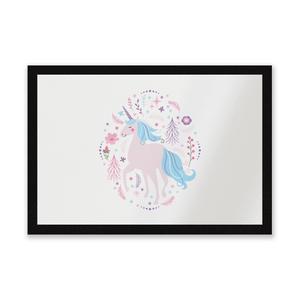 Pink Unicorn Entrance Mat