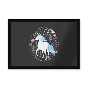 Blue Unicorn Entrance Mat