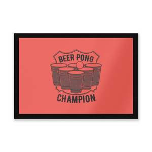 Beer Pong Champion Entrance Mat