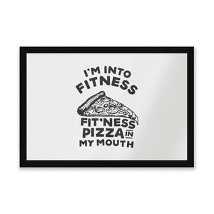 Fitness Pizza Entrance Mat