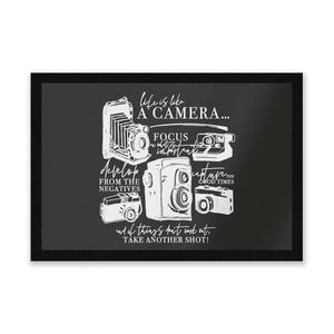 Life Is Like A Camera Entrance Mat