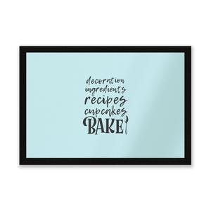 Baking Words Entrance Mat