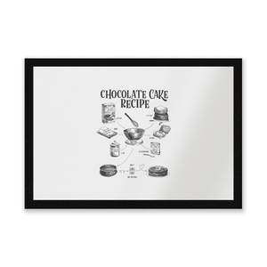 Chocolate Cake Recipe Entrance Mat