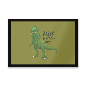 Happy St Pat-Rex Entrance Mat