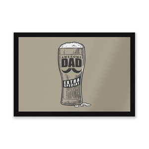Awesome Dad Beer Glass Entrance Mat