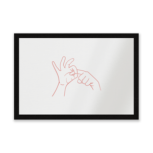 Sexy Hand Gesture Entrance Mat