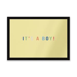 It's A Boy Entrance Mat
