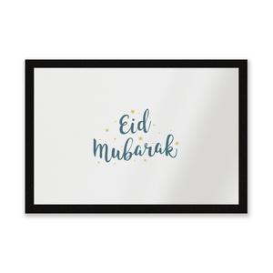 Eid Mubarak Script Yellow Stars Entrance Mat