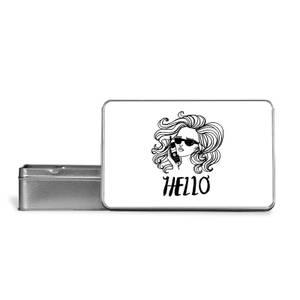 Hello Metal Storage Tin