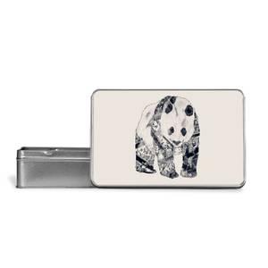 Tattooed Panda Metal Storage Tin