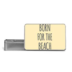 Born For The Beach Metal Storage Tin