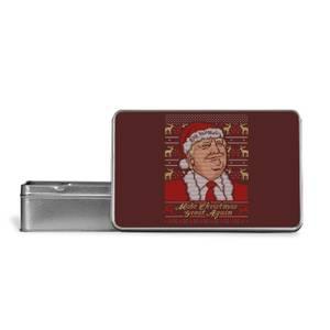 Make Christmas Great Again Metal Storage Tin