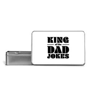 King Of The Dad Jokes Metal Storage Tin