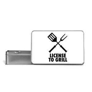 License To Grill Metal Storage Tin