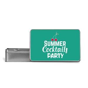 Summer Cocktails Party Metal Storage Tin