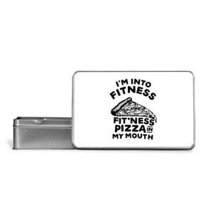 Fitness Pizza Metal Storage Tin