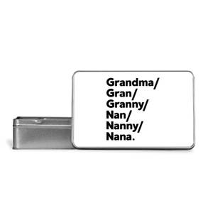 Gran's And Nan's Metal Storage Tin