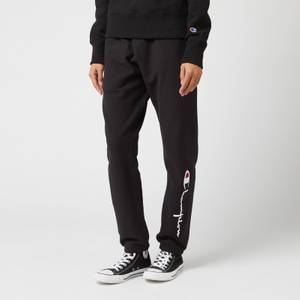 Champion Women's Big Script Elastic Cuff Pants - Black