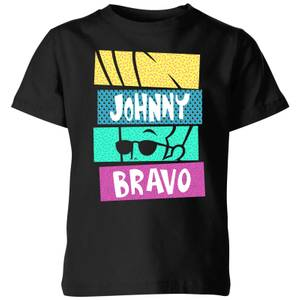 Cartoon Network Spin-Off Johnny Bravo 90's Slices Kids' T-Shirt - Black
