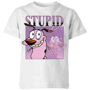 Cartoon Network Spin Off T-Shirt Enfants Courage Le Chien Froussard 90's Photoshoot - Blanc