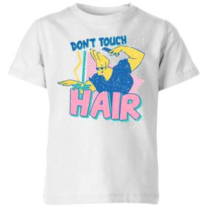 Cartoon Network Spin-Off Johnny Bravo Don't Touch The Hair Kinder T-Shirt - Weiß