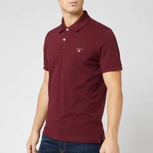 GANT Men's Original Pique Polo Shirt - Port Red