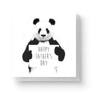 Panda Happy Father's Day Square Greetings Card (14.8cm x 14.8cm)