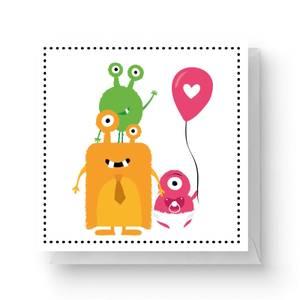 Alien Family Square Greetings Card (14.8cm x 14.8cm)