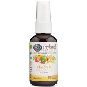 mykind Organics Vegan D3 Spray - Vanilla - 58ml