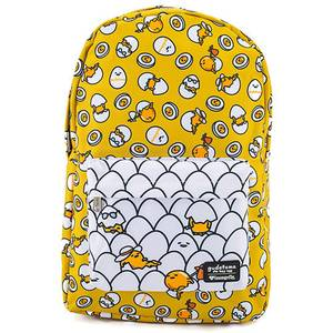 Loungefly Sanrio Gudetama Yellow Nylon Backpack
