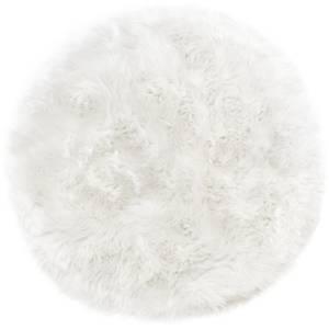 Native Natural 100% Round Sheepskin Rug - Natural White
