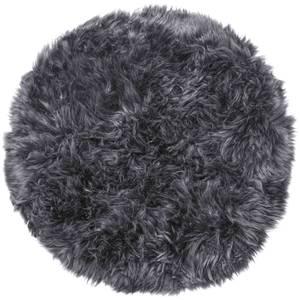 Royal Dream 100% Round Sheepskin Rug - Grey