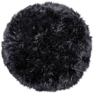 Royal Dream 100% Round Sheepskin Rug - Black