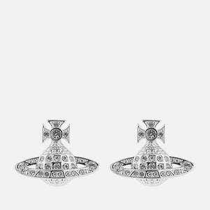 Vivienne Westwood Women's Minnie Bas Relief Earrings - Rhodium Crystal