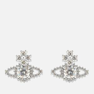 Vivienne Westwood Women's Valentina Orb Earrings - Rhodium White CZ