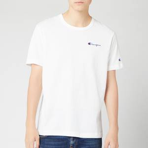 Champion Men's Small Script Crew Neck T-Shirt - White