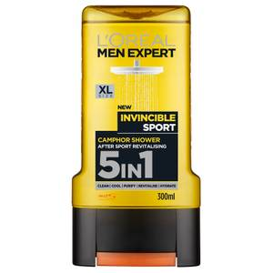 L'Oréal Men Expert Invincible Sport 5-in-1 Shower Gel 300ml