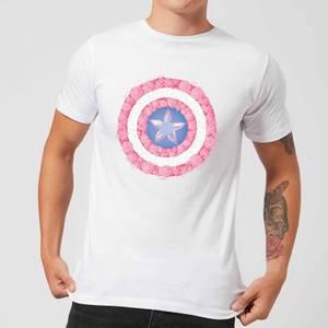 Marvel Captain America Flower Shield Men's T-Shirt - White