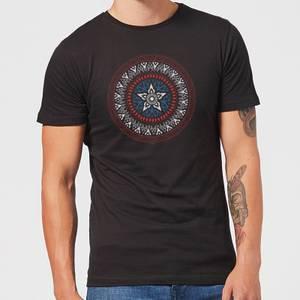 Marvel Captain America Oriental Shield Men's T-Shirt - Black