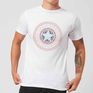 T-Shirt Marvel Captain America Oriental Shield - Bianco - Uomo